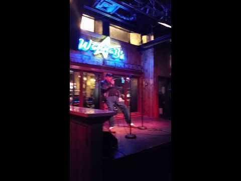 Veteran sings karaoke