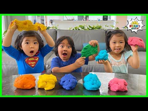 How to Make Playdough Homemade  DIY with Ryan's World!
