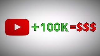 Сколько платит YouTube за 100 000 просмотров ???