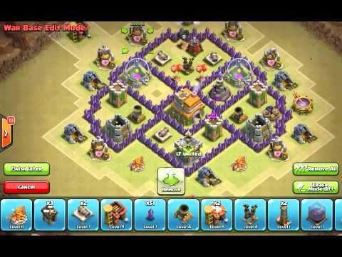 Clash of clans th6 base