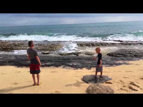 A Beach Day in Waianae, Hawaii, Oahu
