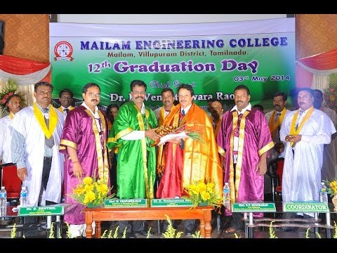 Mailam Engineering College - 12th Graduation Day