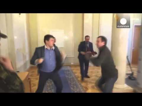 Fight between two Ukrainian deputy