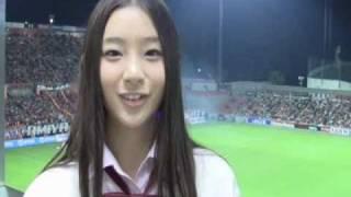 11月6日、2010Jリーグ特命PR部女子マネの足立梨花さんがNACK5スタジアム...