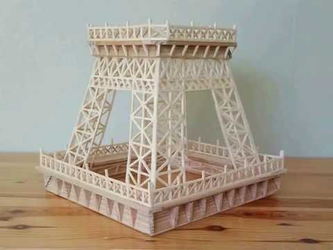 How to make an Eiffel tower with matches