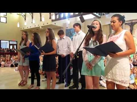 """Hallelujah"" song by the Queen of Peace Catholic Academy 8th Grade Choir, Directed by Josie Bellman"