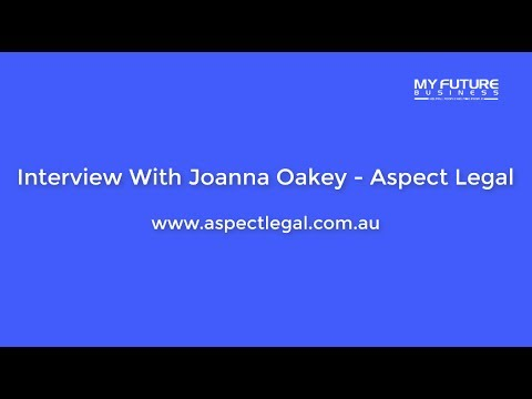 Interview WIth Joanna Oakey of Aspect Legal - Trademarks