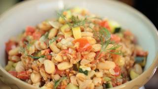 Farro Veggie Risotto Recipe || Kin Eats