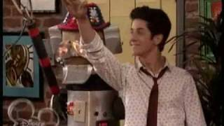 wizards of waverly place maximan the big synchronized robot event scene