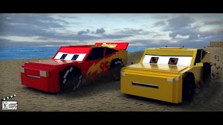 """""""The Beach Ate Me"""" Cars 3 - Short ReMake(Minecraft Animation)"""