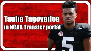 Taulia Tagovailoa Enters NCAA Transfer Portal