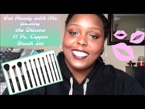 Get Ready With Me Feat. Ducare 11 Pc. Copper Brush Set