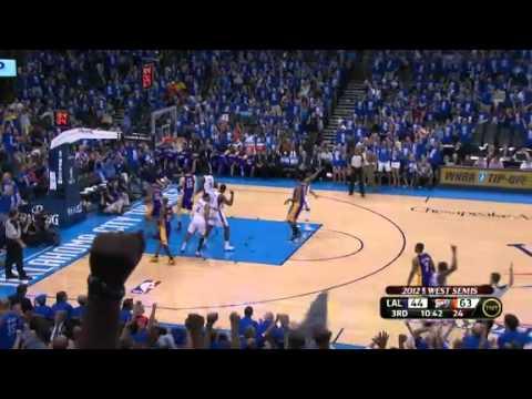 LA Lakers vs OKC Thunder Game 1 NBA Playoffs 2012 (Full-game Highlights!)