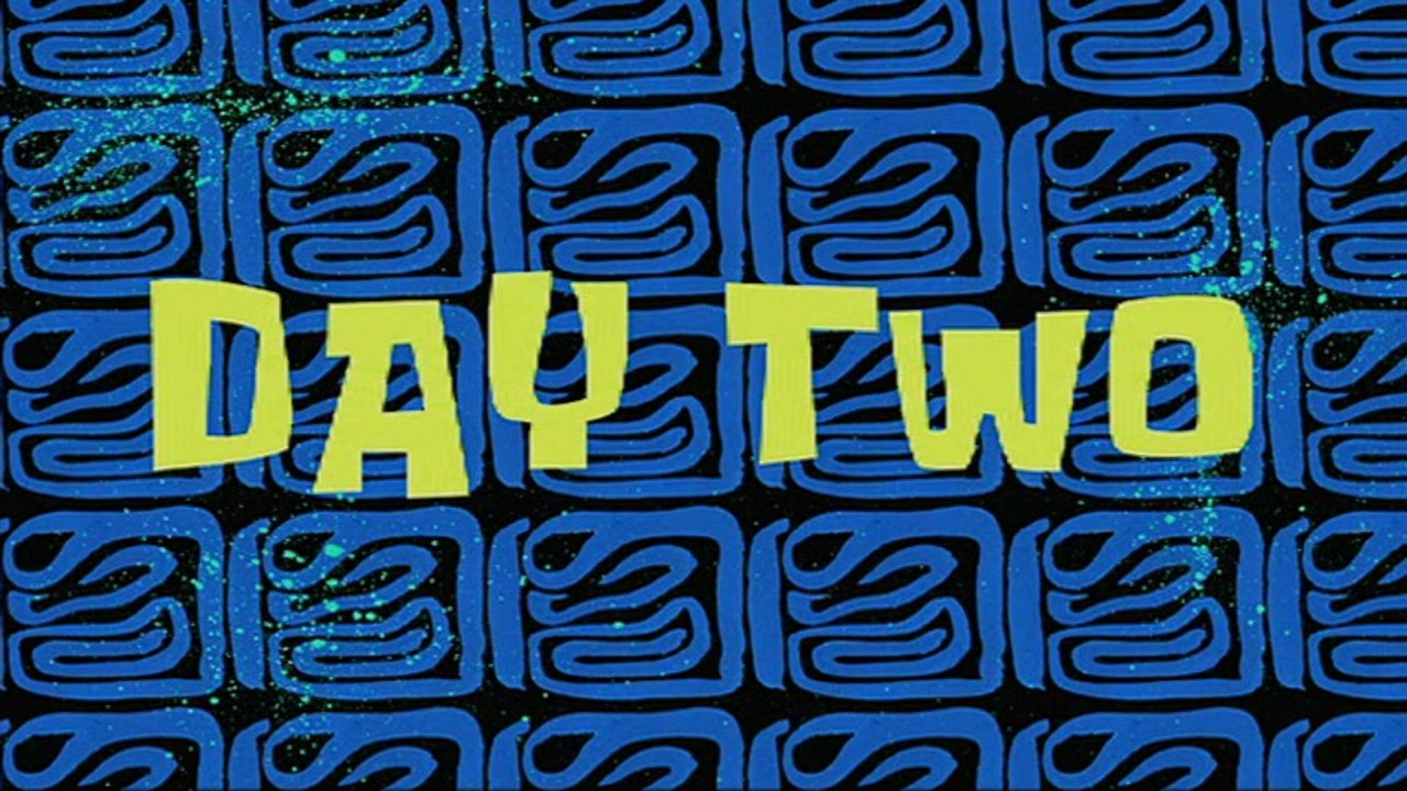 Day two spongebob time card 5