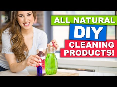 DIY CLEANERS: My NEW Cleaning Kit! (Baking Soda, Vinegar, Essential Oils, Castile Soap & More!)