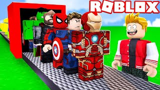 AVENGERS FACTORY IN ROBLOX! (Super Hero Tycoon)