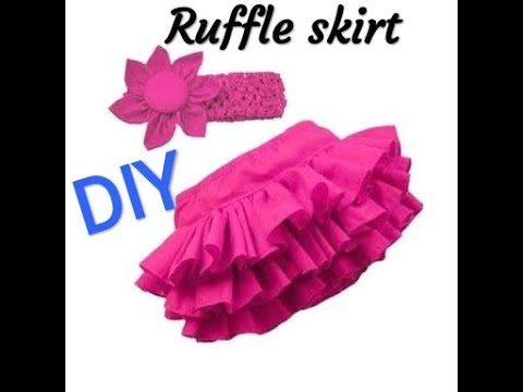 DIY RUFFLE SKIRT/HOW TO MAKE RUFFLE SKIRT STEP BY STEP TUTORIAL.