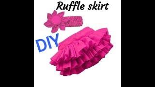 DIY RUFFLE SKIRT/HOW TO MAKE RUFFLE SKIRT STEP BY STEP TUTORIAL.