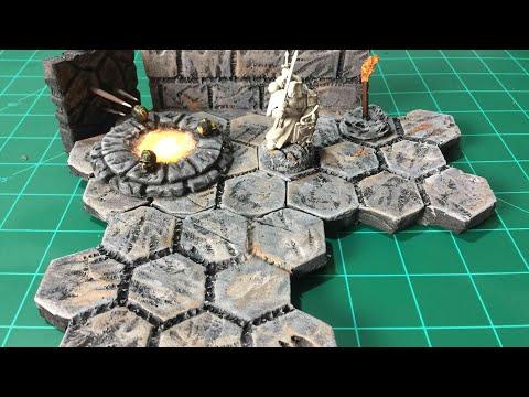 Tabletop Craft #12 Hex Grid Modular Tiles