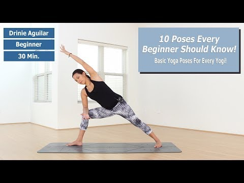 Beginner Yoga | 10 Basic Poses Every Beginner Should Know!