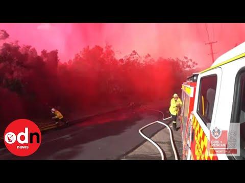 Australian Firefighters Soaked
