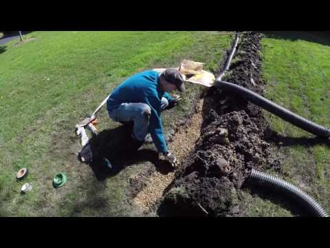 How to drain sump pump water away from the house.