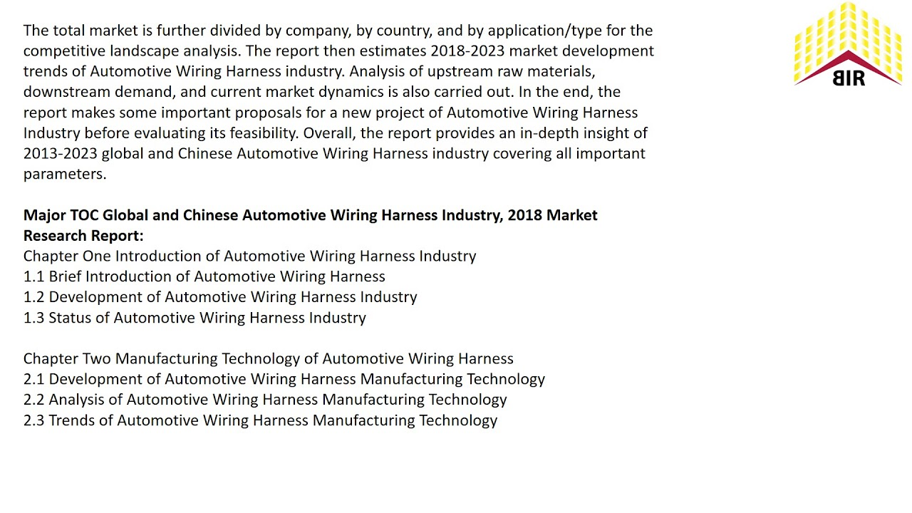 Automotive Wiring Harness Market Top 10 Players Size Revenue And Wire Manufacturer Shares Forecasts Till 2023