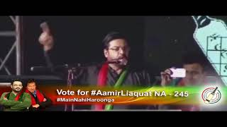 Dr. Amir Liaquat Hussain addresses Jalsa in Karachi - Imran khan In Karachi - Imran Khan Video