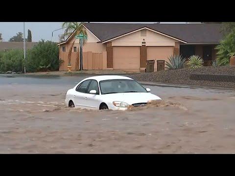 ARIZONA FLASH FLOODS:  Heavy rains flood Arizona streets and force rescues