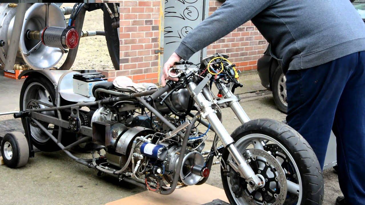 Jet Engine Drag Jet Bike Electric Starting Engine Youtube