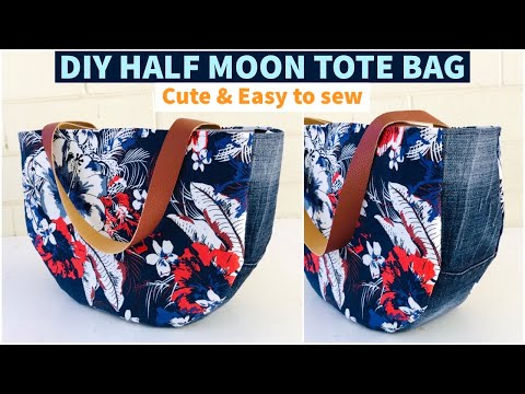 DIY BEAUTIFUL FLORAL TOTE BAG/HANDBAG/RECYCLE/REUSE OLD CLOTHES/BOLSA #STAYHOME #WITHME กระเป๋าผ้า