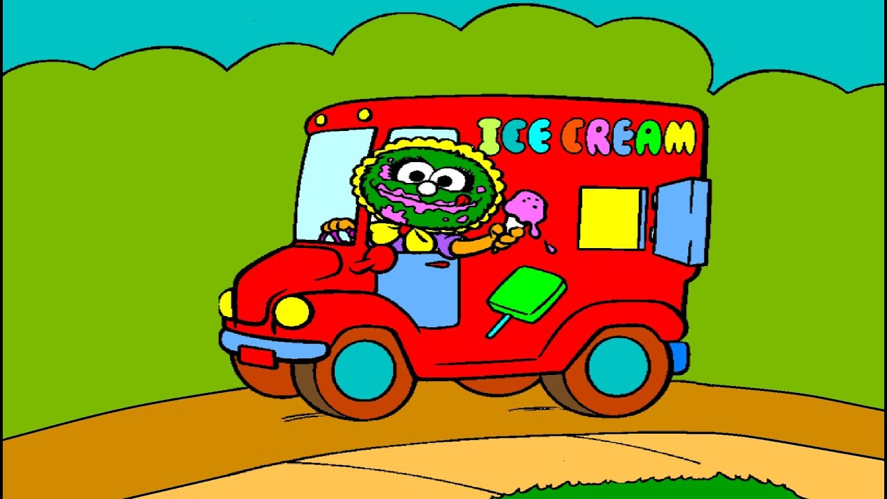 muppet babies baby animal ice cream truck coloring page youtube