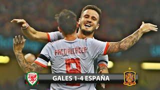 Gales 1-4 España / Amistoso Internacional - 11/10/2018 / Relato Español