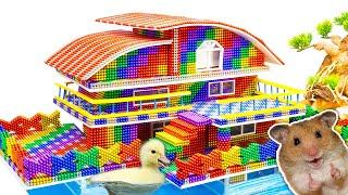 DIY - Build Underwater Hamster House Fish Tank From Magnetic Balls (Satisfying) - Magnet Balls