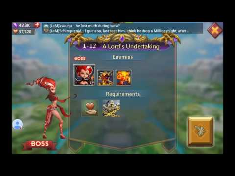 Lords Mobile! Walkthrough Hero Assault Challenge Mode Level 1-12.