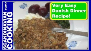 Millionbøf - Million Beef With Mashed Potatoes - A Danish Dinner Recipe