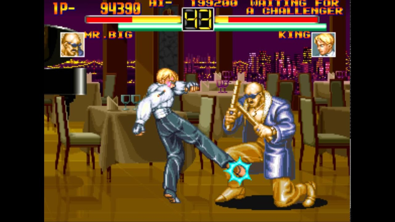 19 Art Of Fighting 1 Boss Hack 2 2 Mr Big Playthrough Youtube