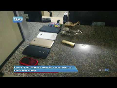 Casal usa táxi para realizar furto em residência e homem acaba preso em Blumenau