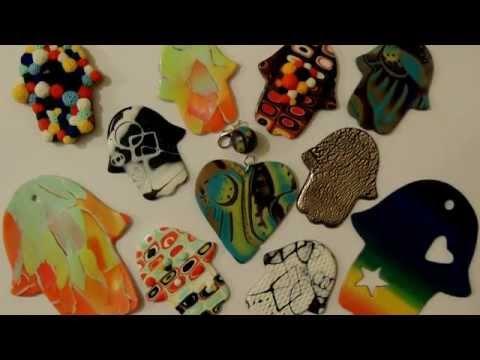 Амулет Хамса полимерная глина / Hamsa Amulet polymer clay