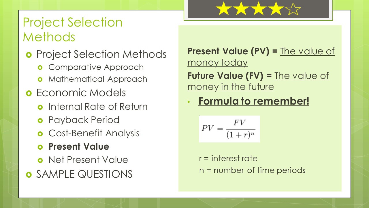 Pmp Certification Math Prep In Detail Present Value Youtube