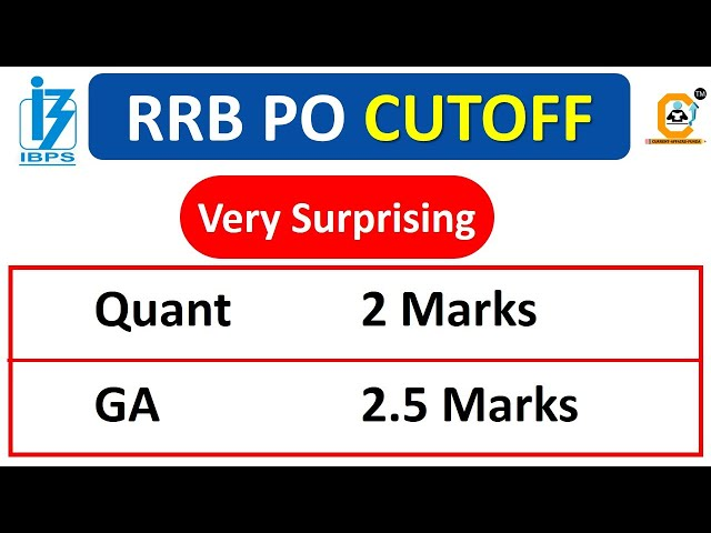 RRB PO 2021 - Very Surprising Cutoff - Whats your Score