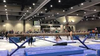 Keira's level 6 gymnastics beam routine SCEGA CALI CLASSICS 2017
