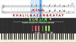 Kokain King Khalil & Azan & Kay Ay Piano Tutorial Instrumental Cover