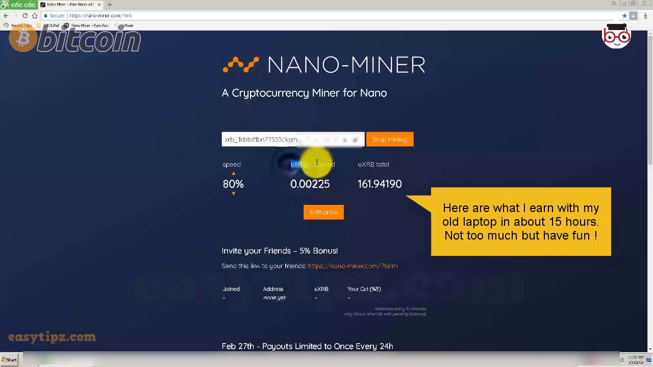 nano cryptocurrency mining