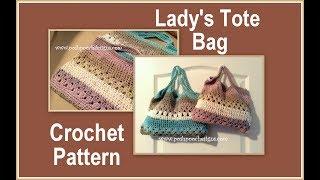 Lady's Tote Bag Crochet Pattern