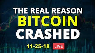 The Real Reason #Bitcoin is Crashing - Crypto & Forex Analysis - 11/25/18 - LIVE