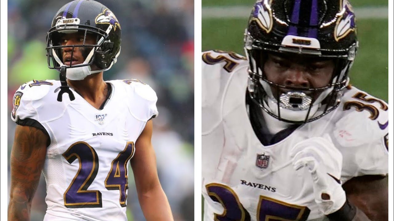 Ravens CB Marcus Peters, RB Gus Edwards suffer potentially ...