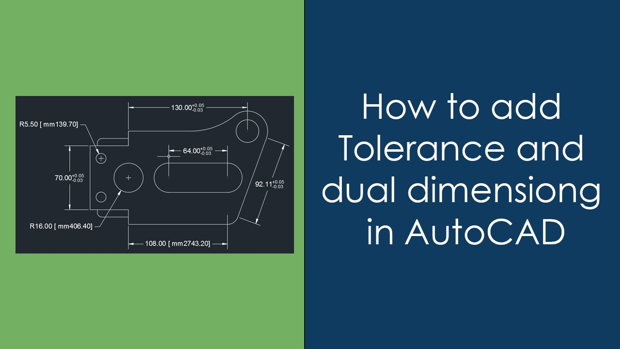How To Add Dual Dimensioning And Tolerance In Autocad Youtube