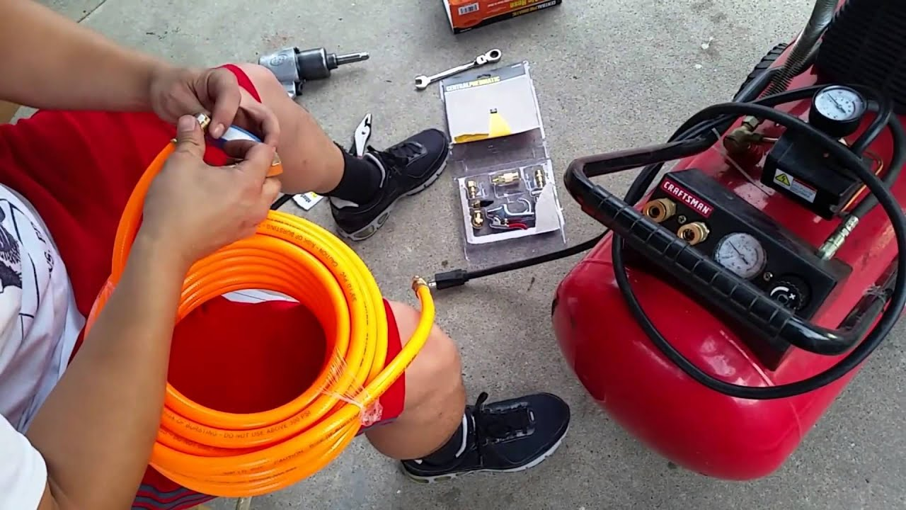 how to set up craftsman air compressor [ 1280 x 720 Pixel ]
