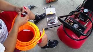 How to set up Craftsman Air Compressor